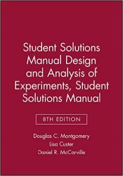 Reliability books student solutions manual design and analysis of experiments 8e student solutions manual fandeluxe Image collections